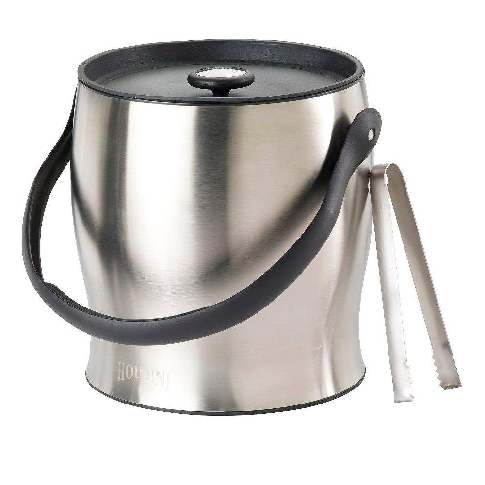 Image of Houdini Deluxe 4 qt Stainless Steel Ice Bucket, Silver