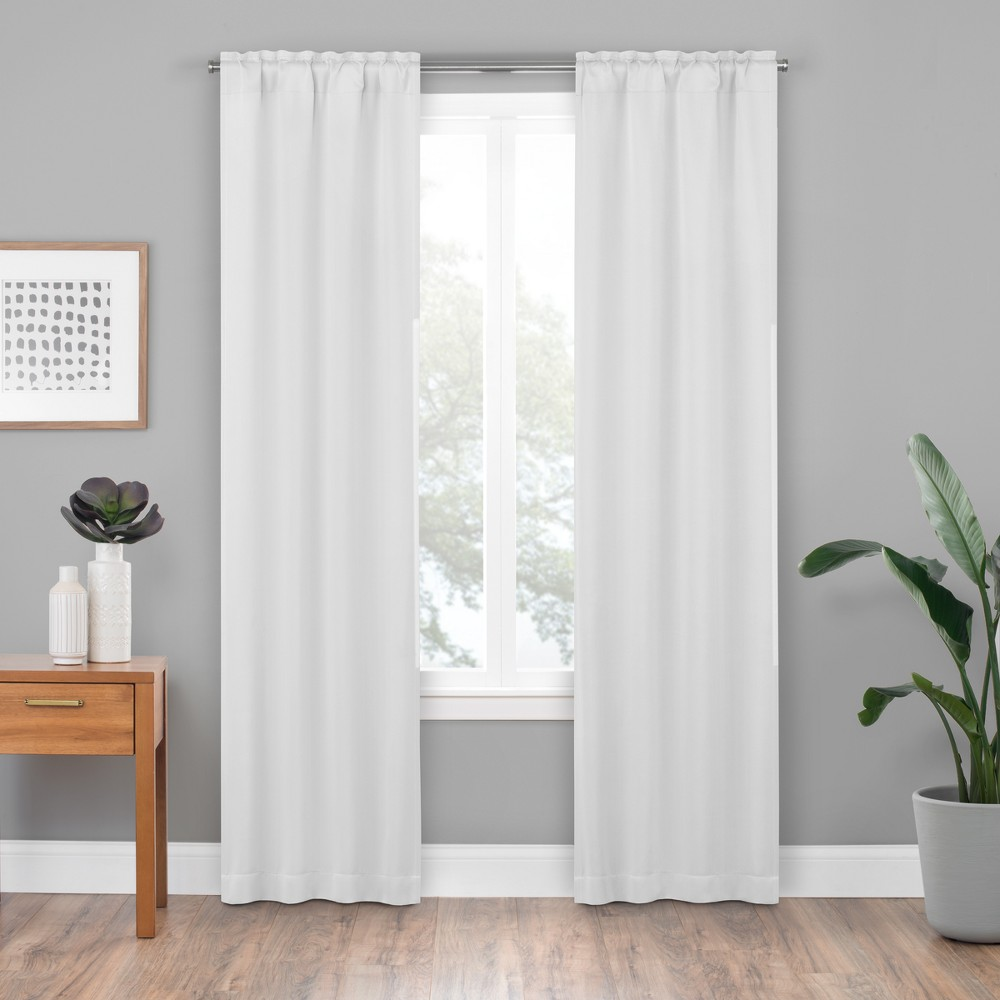 27 X80 Woven Thermaliner Blackout Curtain Panel White Eclipse