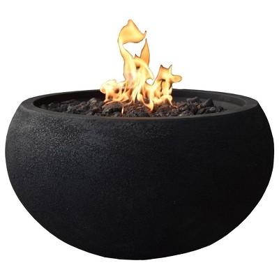 "York 27"" Natural Gas Fire Pit Outdoor Backyard Patio Heater - Elementi"
