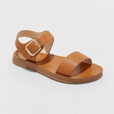 Girls' Kamila Ankle Strap Sandals - Cat & Jack™ Cognac 13