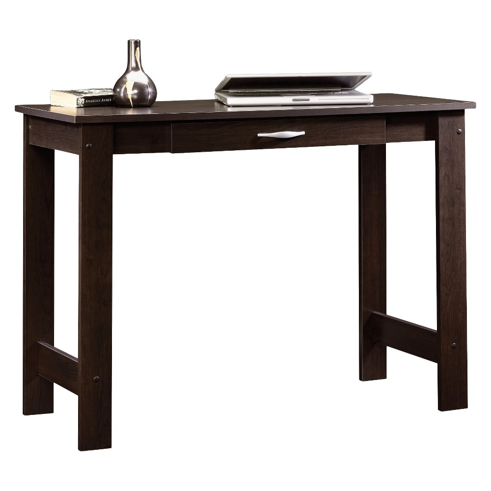 Beginnings Writing Table with Center Drawer - Cinnamon Cherry - Sauder, Red