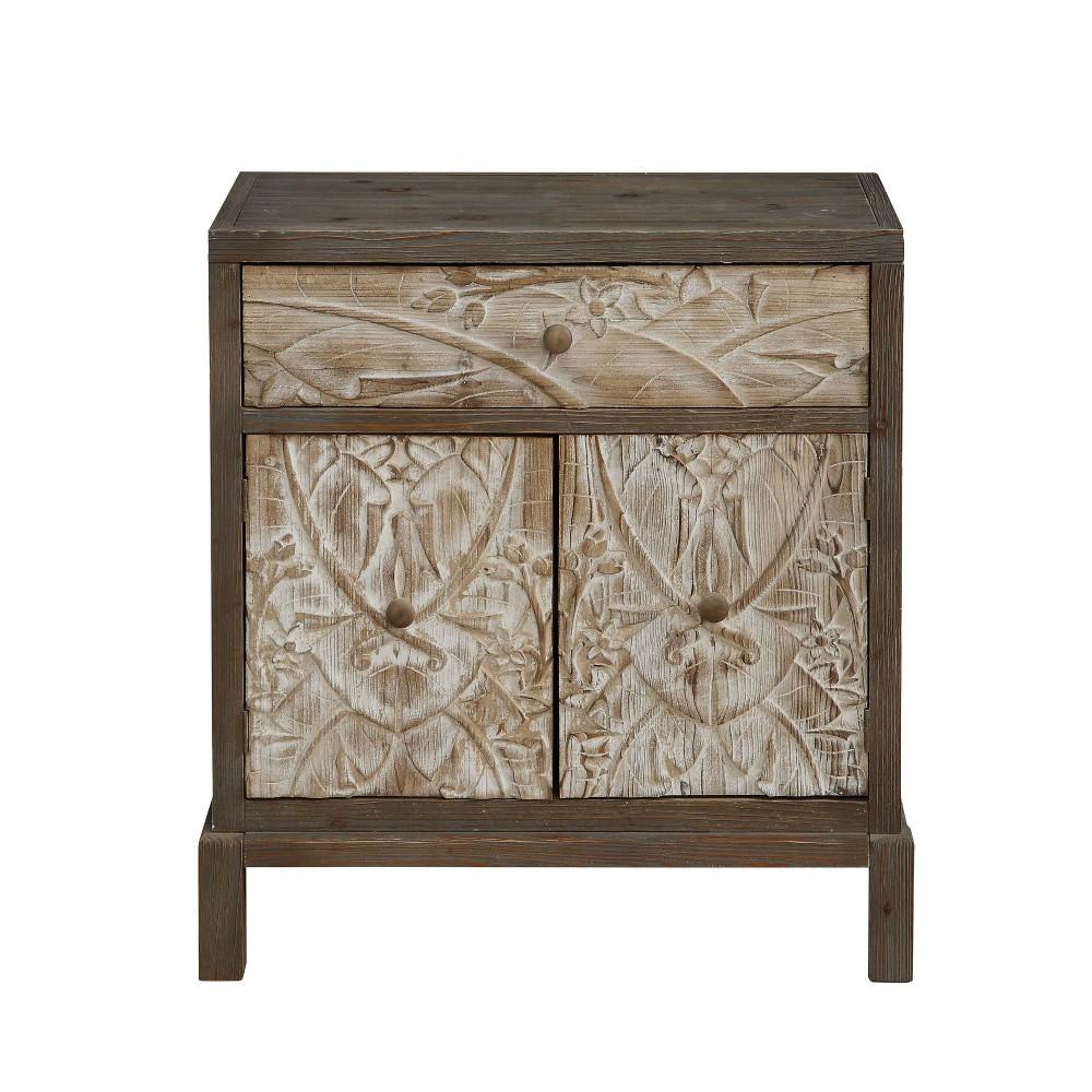 2 Door Cabinet Natural Treasure Trove Accents
