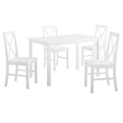 5pc Solid Wood Farmhouse Dining Set - Saracina Home