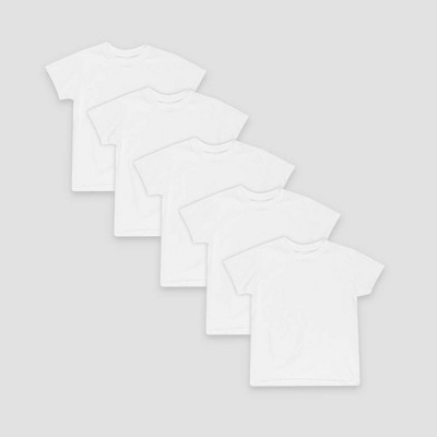 Hanes® Toddler Boys' 5 pack Crew T-Shirt - White