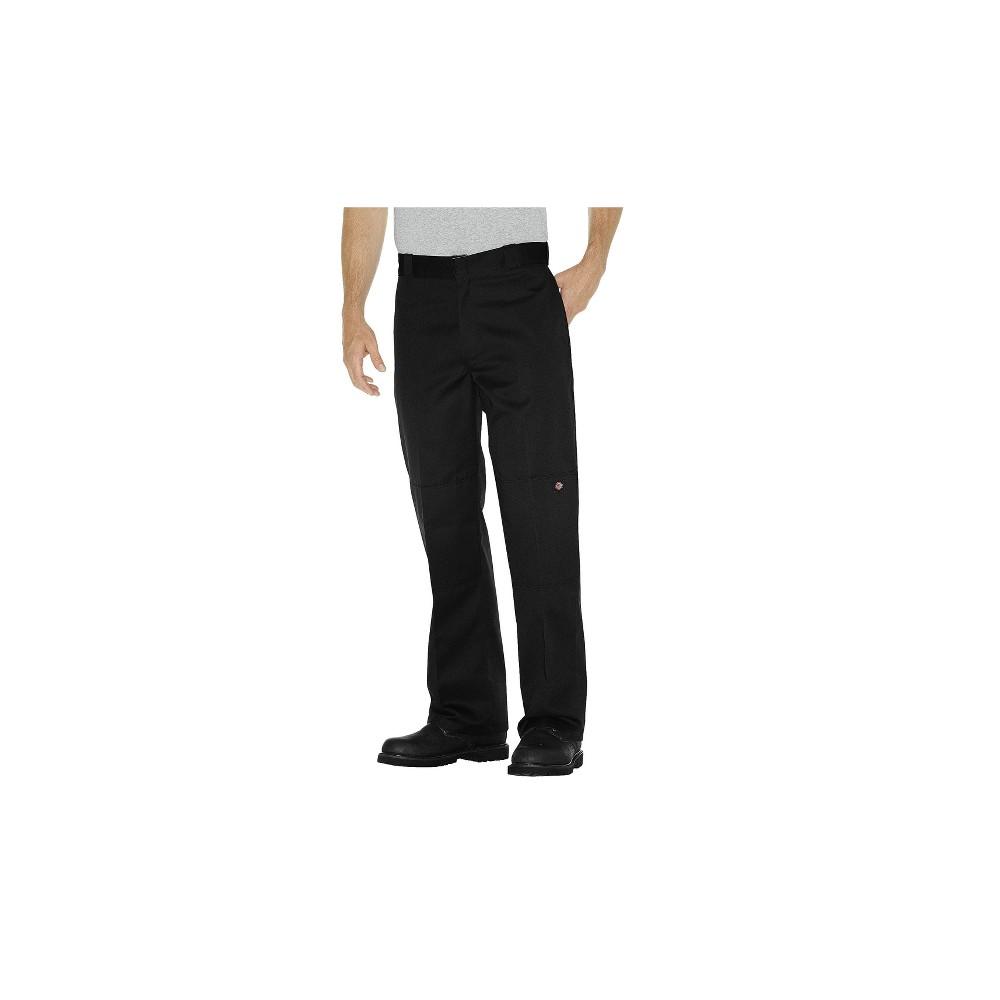 Dickies Men's Big & Tall Flex Loose Straight Fit Double Knee Work Pants - Black 48x32