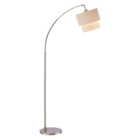 Adesso Gala Arc Lamp  - Silver - image 1 of 2
