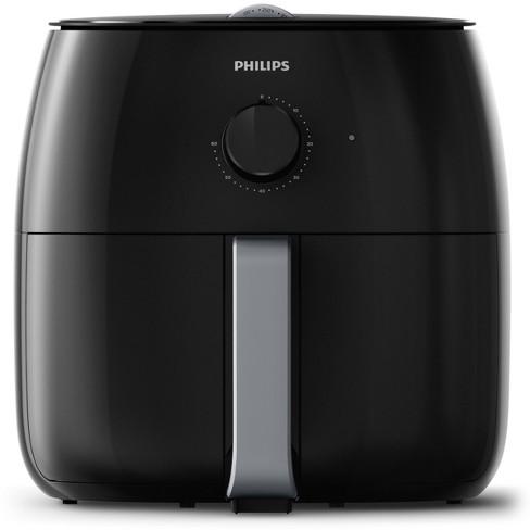 Philips Twin TurboStar Analog 4qt Airfryer Black - HD9630/96 - image 1 of 4