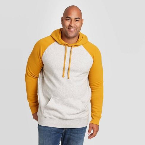 Men's Big & Tall Regular Fit Fleece Pullover Hoodie Sweatshirt - Goodfellow & Co™ Gold - image 1 of 3