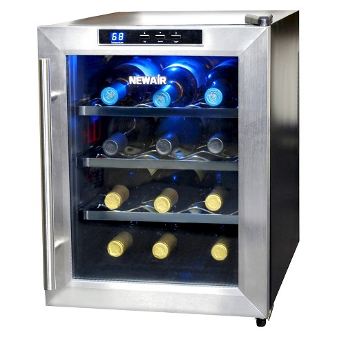 Newair 12 Bottle Countertop Thermoelectric Wine Cooler Stainless Steel Aw 121e Target