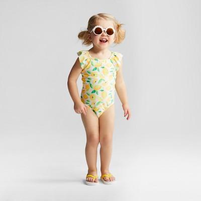 Toddler Girls' Lemon One Piece Swimsuit - Cat & Jack™ Yellow 2T