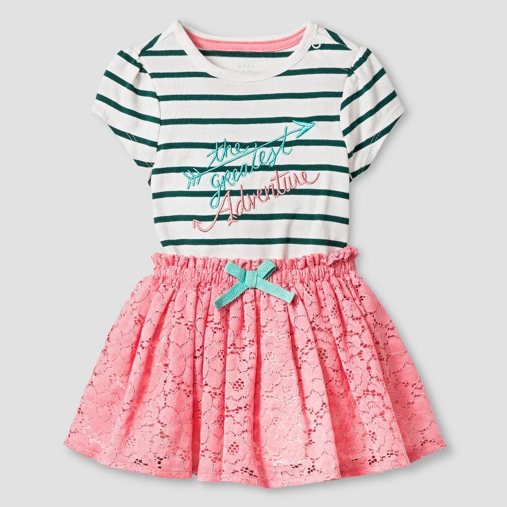 Baby Girls' Bodysuit and Skirt - Cat & Jack Green/Pink 12M
