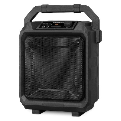 Innovative Technology Portable Wireless Outdoor Bluetooth Tailgate Party Speaker with Trolley, Black