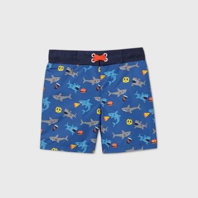 Toddler Boys' Shark Print Swim Trunks - Cat & Jack™ Blue