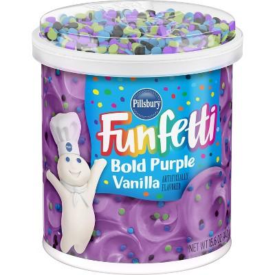 Pillsbury Bold Purple Vanilla Funfetti Frosting - 15.6oz