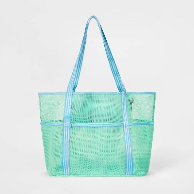 Beach Bag with Pockets Teal - Sun Squad™