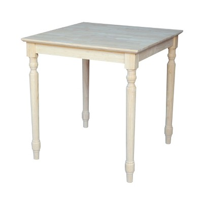 """30"""" Square Solid Table Unfinished - International Concepts"""