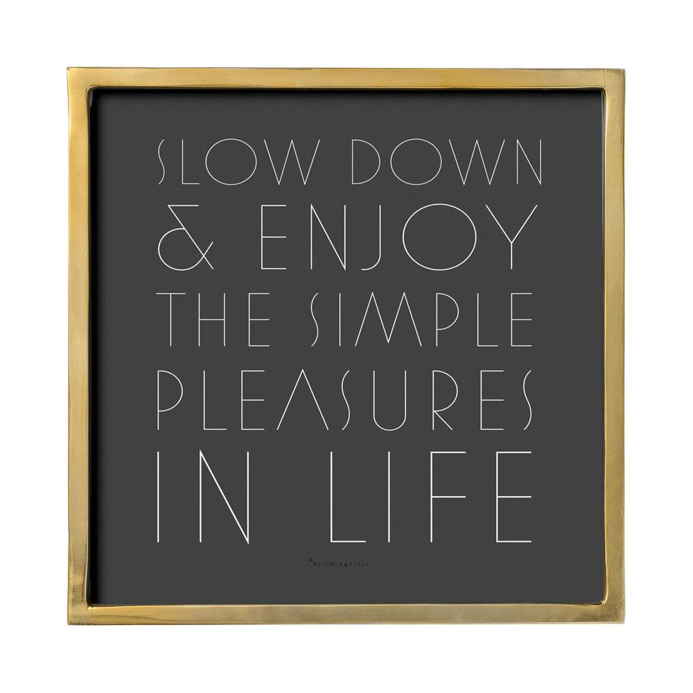 Slow Down Black & Gold Framed Wall Art - 3R Studios