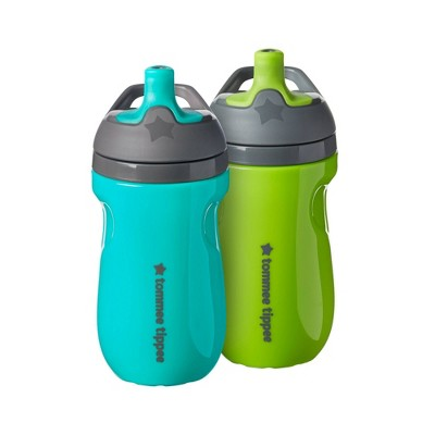 Tommee Tippee 2pk Insulated Sportee Toodler Water Bottle with Handle - 9oz