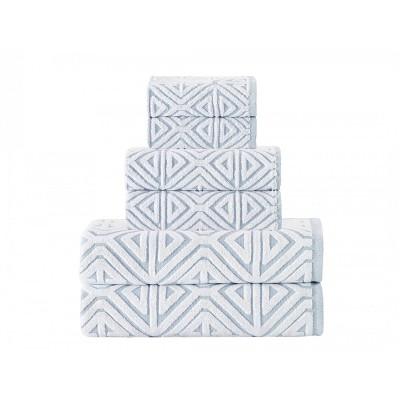 6pc Glamour Turkish Cotton Bath Towel Set - Enchante Home