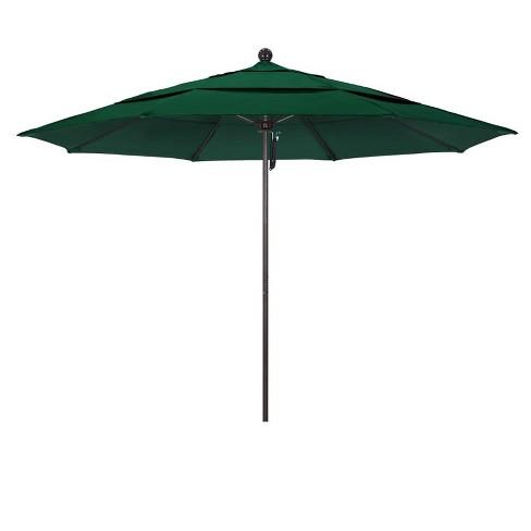 Venture 11' Bronze Market Umbrella in Green - California Umbrella - image 1 of 1