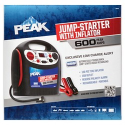 Peak 600 AMP Jump Starter with Inflator