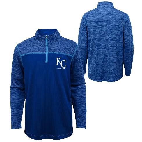 MLB Kansas City Royals Boys' In the Game 1/4 Zip Sweatshirt - image 1 of 3