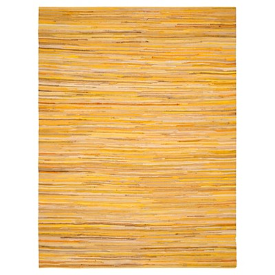 Yellow Spacedye Design Flatweave Woven Area Rug 4'X6' - Safavieh