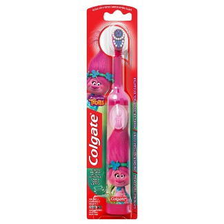 Colgate Kids Battery Powered Toothbrush Trolls Poppy Extra Soft - 1ct