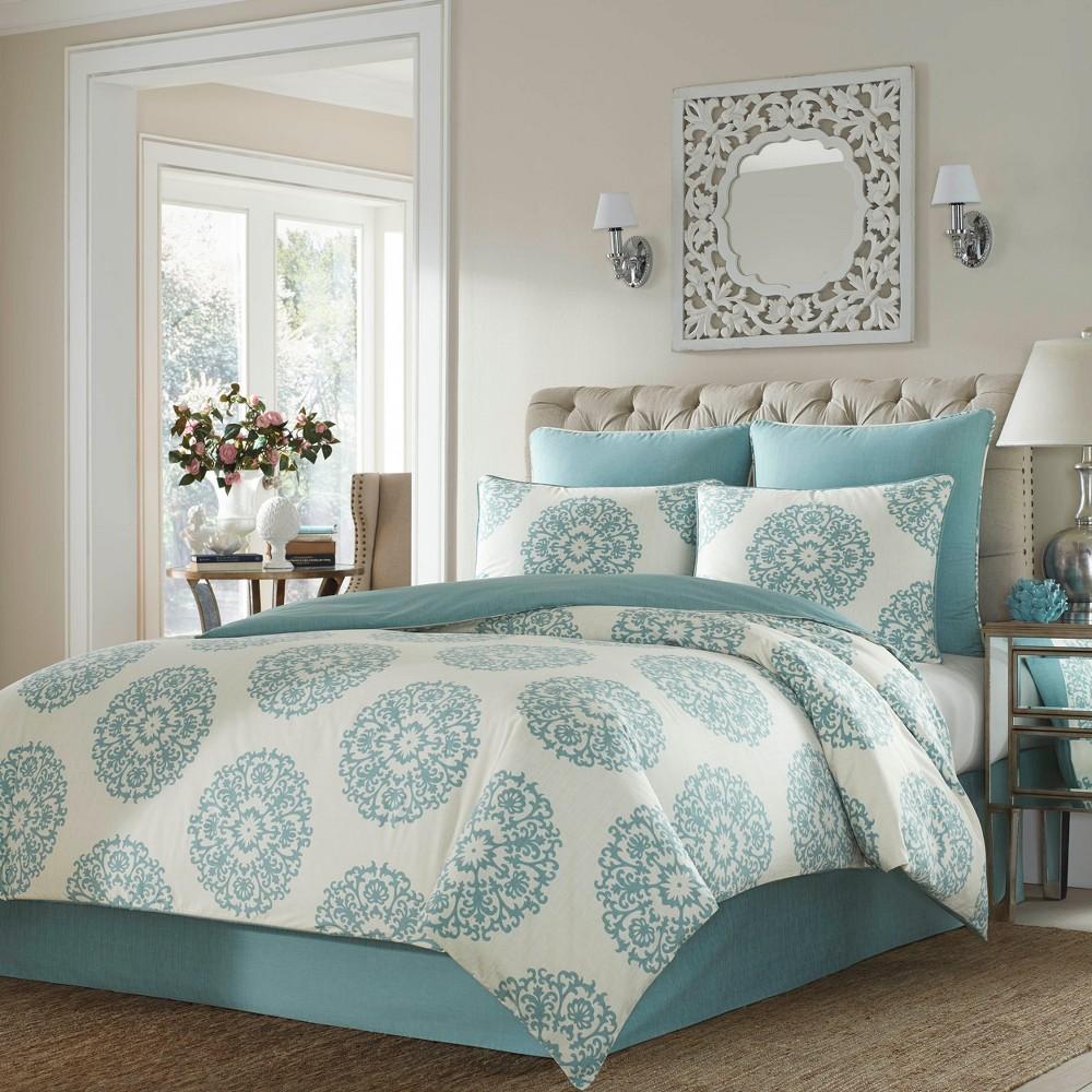 Image of Blue Bristol Comforter Set (King) - Stone Cottage