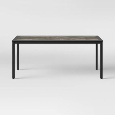 Farmhouse 6 Person Patio Dining Table Black - Threshold™