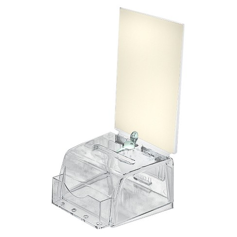 Azar® Small Molded Suggestion Box with Lock Clear - image 1 of 1