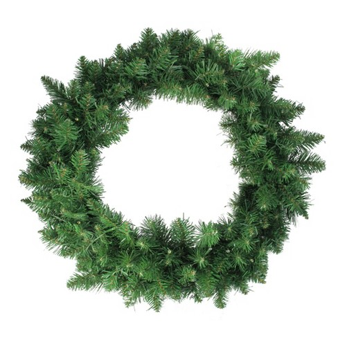 """Northlight 24"""" Pre-Lit Whitmire Pine Artificial Christmas Wreath - Warm White LED Lights - image 1 of 1"""
