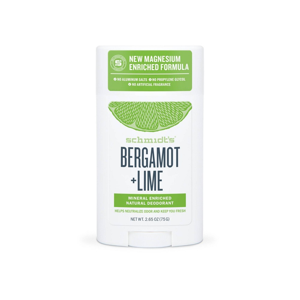 Image of Schmidt's Bergamot + Lime Aluminum-Free Natural Deodorant Stick - 2.65oz