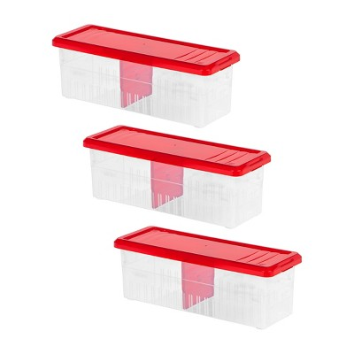 IRIS 3pk Ribbon Storage Box Red