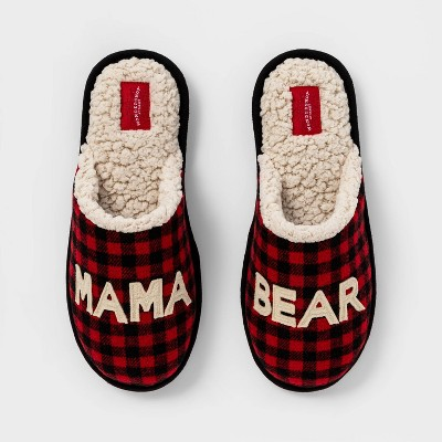 Women's Family Sleep Mama Bear Slide Slippers - Wondershop™ Red S