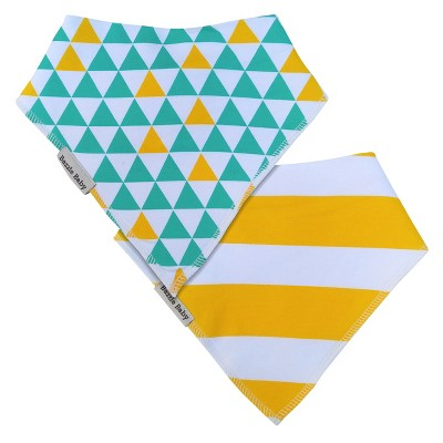 Bazzle Baby Banda Bib Set Triangles & Stripes - 2pk