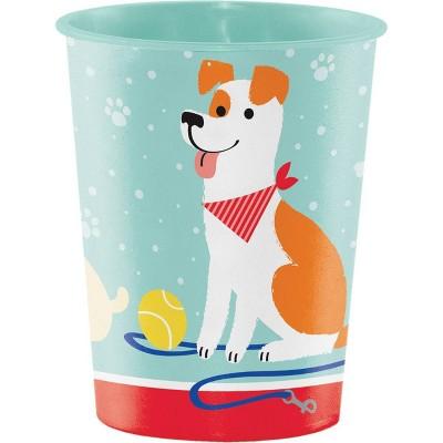 8ct 16oz Dog Print Party Favor Cups
