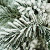 """Northlight 20"""" Unlit Artificial Flocked Pine Tree in Faux Paper Pot - image 3 of 3"""