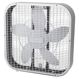 """20"""" 3-Speed Box Fan White - Holmes"""