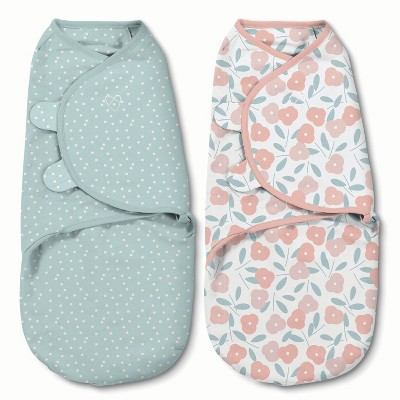 SwaddleMe Original Swaddle 0-3M - 2pk Petals and Dots S
