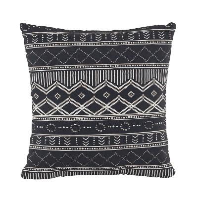 Kuba Square Throw Pillow Black - Cloth & Co.