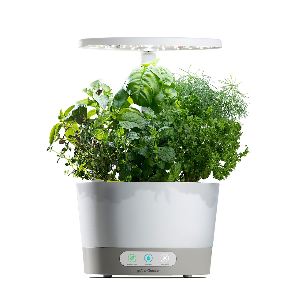 AeroGarden Harvest 360 with Gourmet Herbs 6-Pod Seed Kit - White