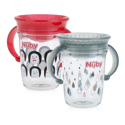 Nuby 2pk Spoutless Tritan Trainer - Neutral