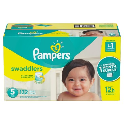 Pampers Swaddlers Disposable Diapers One Month Supply - Size 5 (132ct)