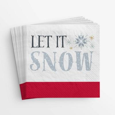 20ct Let it Snow Lunch Disposable Napkin - Wondershop™
