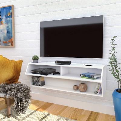 Altus Wall Mounted Media Storage White - Prepac