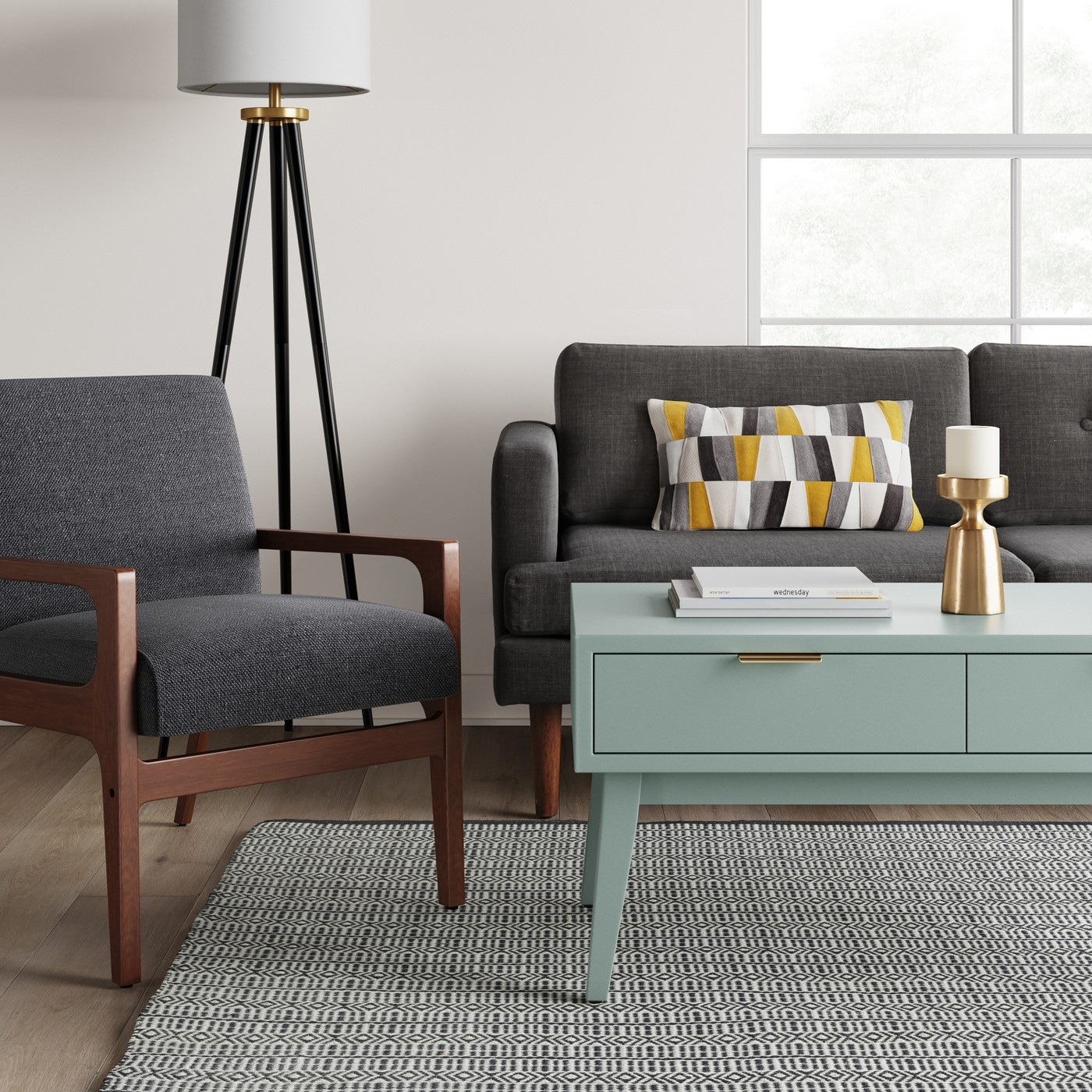 Hafley Coffee Table Smoke Green - Project 62™ - image 2 of 3