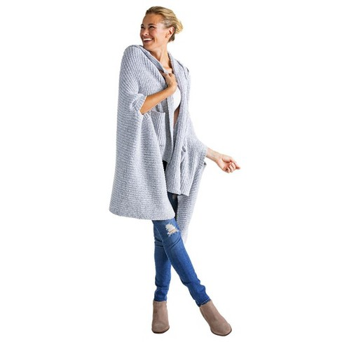 Softies Women's Marshmallow Hooded Shawl with Armslots - image 1 of 4