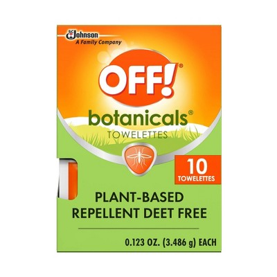 OFF! 10ct Botanicals Insect Repellent Towelettes