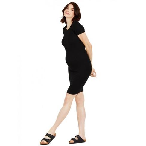 Motherhood Maternity | Rib Knit Maternity T-Shirt Dress - image 1 of 3